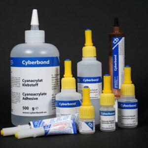 Cyberbond Cyanoacrylat 2999, god til keramik, pocelæn overflader. Slagfast. 20g tube