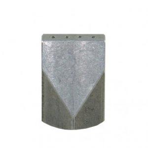 Flad hul dyse 10mm, 2 huller, 3,1mm