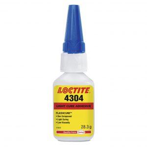 Loctite 4304 lyshærdende lim – superstærk, stærk vedhæftning på plast, hærdning ved lav lysintensitet, certificeret iht. ISO 10993