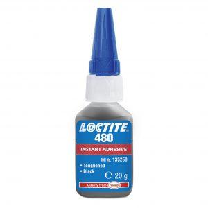 Loctite 480 hurtiglim, sort, lim til magneter