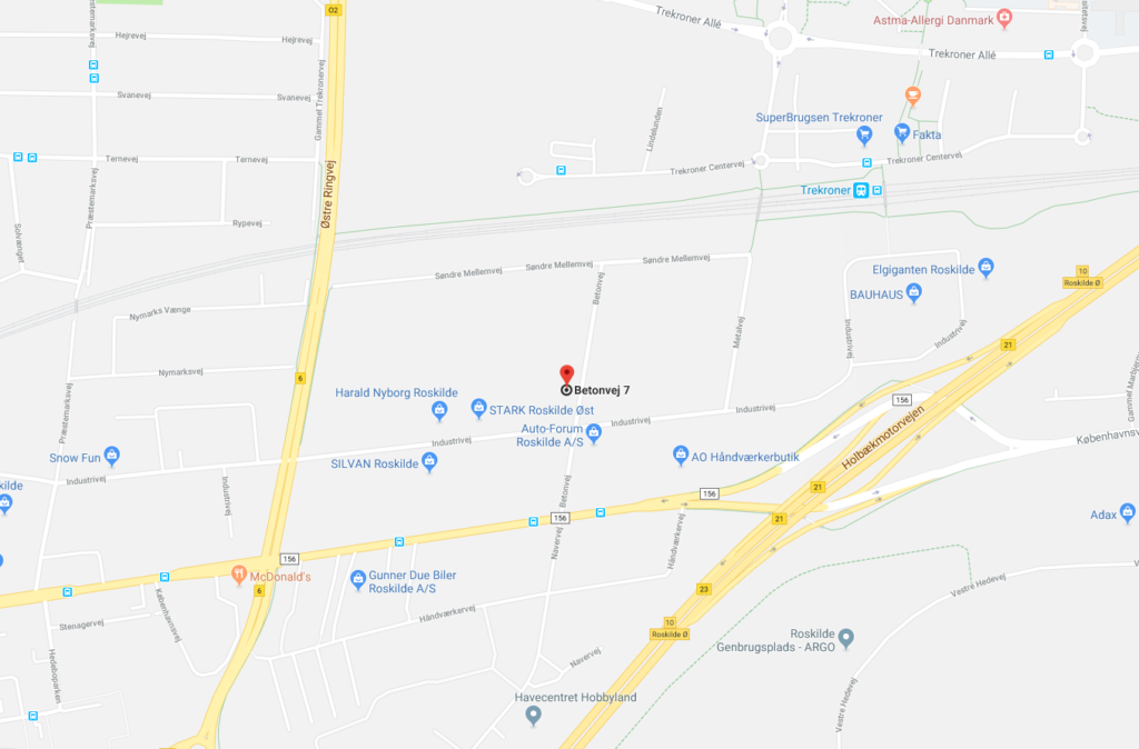 Billed fra GoogleMaps, som viser hvor Aplica ligger